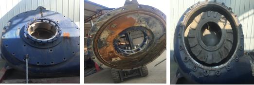 聚合陶瓷耐磨颗粒胶,克莱克斯进口渣浆泵耐磨防腐修复新材料